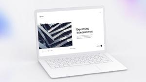 白色超极本笔记本电脑样机模板 White Laptop Mockup插图4
