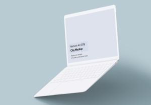 2019款MacBook Air超极本屏幕预览样机模板 Clay Macbook Air Mockup 1.0插图6