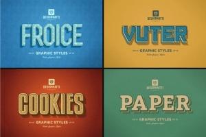 复古风格AI字体样式合集v02 Retro Vintage Text Styles Vol.02插图2