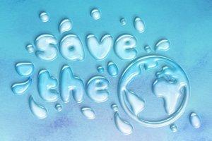 逼真水滴水纹效果PS字体样式 WATER TEXT EFFECT插图4