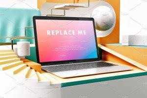 创意的Macbook展示模型Mockups打包下载[psd]插图13
