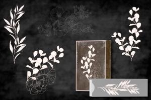 腮红色水彩手绘叶子图案剪贴画PNG素材 Blush Foliage Clip Art Bundle插图6