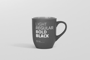圆形光泽马克杯外观设计样机 Mug Mockup – Rounded插图11