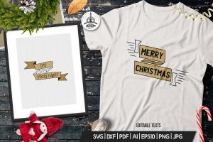 圣诞节主题T恤印花图案矢量设计素材 Christmas Designs Bundle. Vector TShirt Prints SVG插图2