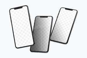 iPhone XS Max智能手机UI界面设计演示样机模板06 iPhone XS Max Mockup 06插图1