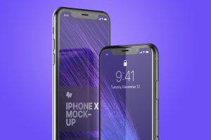 iPhone X手机屏幕设计预览样机模板08 iPhone X Mockup 08插图4