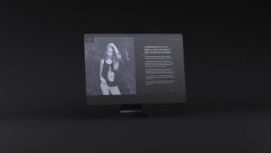 网站UI设计效果图预览黑色iMac电脑样机模板 Dark iMac Mockup插图4