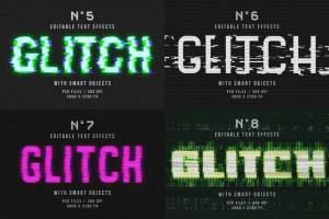 毛刺字体特效设计PSD模板 Photoshop Glitch Text Effects插图13