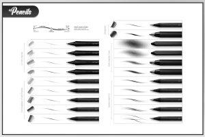 素描炭笔类手绘笔画铅笔笔刷 RM My Pencils插图7