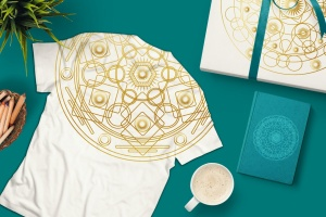 圆形曼陀罗花纹神圣几何图案矢量素材包 Sacred Geometric Mandalas Collection插图3