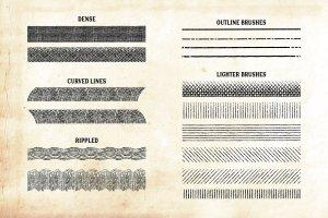 复古画笔线条艺术AI笔刷 Finest Vintage – Affinity Brushes插图10