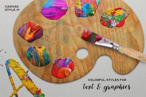 油画风格PS图层样式 Oil Painting Photoshop Layer Styles插图3