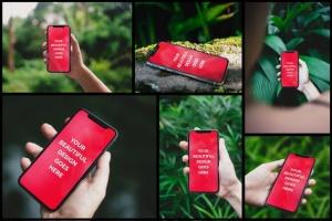 10款手持真实iPhone X设备展示样机模板 10 Authentic iPhone X Mockups插图7