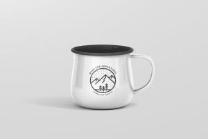 高分辨率圆形珐琅杯子样机 Round Enamel Mug Mockup插图2