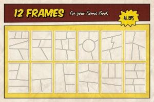 漫威&DC欧美复古漫画插画设计工具包插图(11)