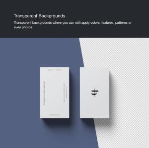 商业/个人名片设计样机模板插图4