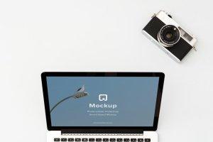 12款苹果笔记本&平板样机模板 Mockup Pack – 12 PSDs插图12