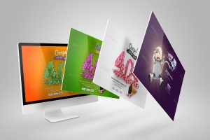 Web设计桌面电脑屏幕演示样机模板 Desktop Mock-Up插图7