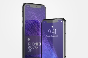 iPhone X手机屏幕设计预览样机模板08 iPhone X Mockup 08插图3