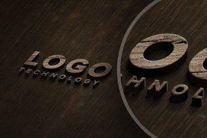 简约的木标志LOGO设计展示模型插图3