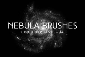 太空星云设计PS笔刷 Nebula Photoshop Brushes插图1