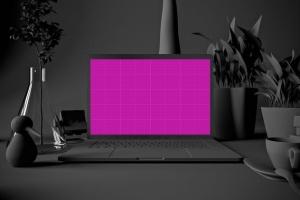 酷黑场景MacBook Pro电脑样机 Dark MacBook Pro插图12