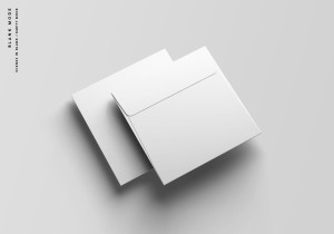 方形企业信封设计样机模板 Square Envelope Mockup插图10