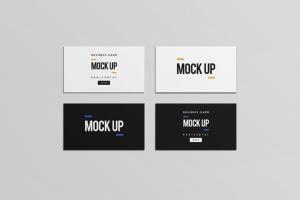 等距平铺企业名片设计样机模板 Business Card Mock Up插图8
