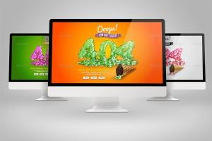 Web设计桌面电脑屏幕演示样机模板 Desktop Mock-Up插图4