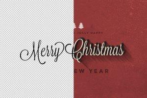 圣诞节主题文本图层样式v1 Christmas Text Effects Vol.1插图5