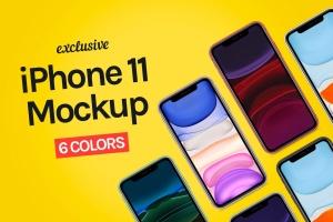 2019年版本iPhone 11手机样机模板 iPhone 11 Mockup插图1
