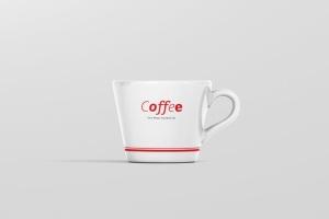 高品质的咖啡马克杯样机展示模板 Coffee Cup Mockup – Cone Shape插图8