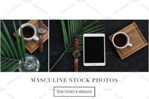 iPad办公场景样机模板 Masculine Stock Photos + iPad Mockup插图6