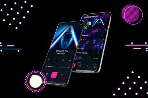高质量霓虹灯风格iOS/Android手机样机模板 Neon IOS & Android插图8