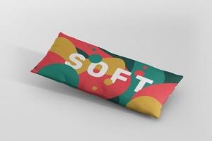 时尚多彩长矩形沙发卧室枕头样机模板 Pillow Mockup – Long Rectangle插图4