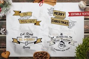圣诞节主题T恤印花图案矢量设计素材 Christmas Designs Bundle. Vector TShirt Prints SVG插图1