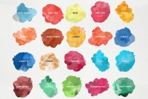 精美水彩插画设计素材包 for AI Watercolor KIT for Illustrator插图5