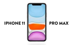 iPhone 11 Pro Max手机正面视图屏幕预览样机模板 iPhone 11 Pro Max Mockup插图1