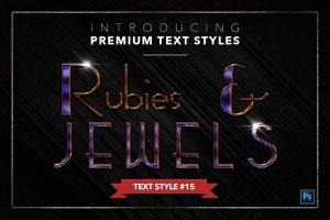 20款红宝石&珠宝文本风格的PS图层样式下载 20 RUBIES & JEWELS TEXT STYLES [psd,asl]插图16