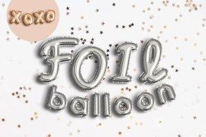 逼真的金箔气球文字效果 FOIL BALLOON TEXT EFFECT插图3