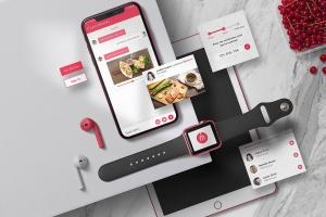 个性化APP&网站设计效果预览样机 App / UI Kit Mockups插图4
