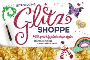 140款精心制作的色彩斑斓图层样式 The Glitz Shoppe插图1