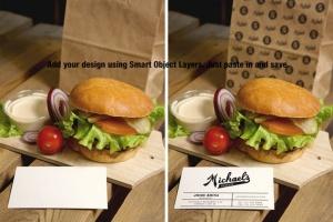 汉堡咖啡品牌样机模板 Burger Cafe Mockup插图4