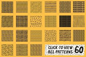 AI手绘插画必备的50个笔刷&60种图案纹理 Patts Brush Collection for Adobe Illustrator插图7