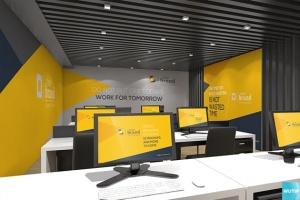 3D立体logo标志企业文化办公室设计VI样机展示模型mockups插图14
