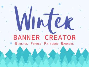 一流设计素材网下午茶:冬季广告banner设计矢量素材[Ai]插图1