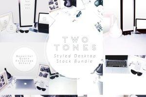 写实办公场景桌面图像 TwoTones Styled Desktop Stock Bundle插图1