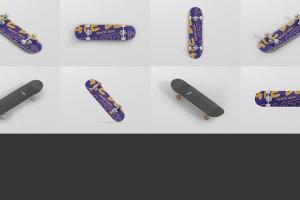 极限运动滑板图案设计样机 Skateboard Mockup插图13