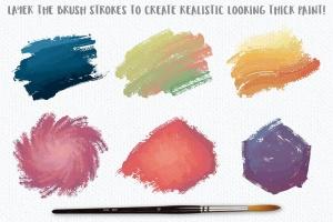 高品质油画质感AI画笔笔刷 Outstanding Oil Paint Brushes插图4