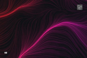 10款高分辨率抽象数流体线条PS笔刷 Digital Perlin Flow Fields Photoshop Brushes插图9